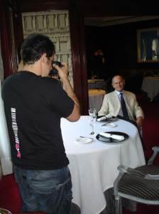 El retrat del president d'Hostelco es va fer al restaurant Drolma.
