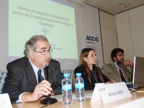 El secretari d'Indútria, Antoni Soy, va presidir la presentació del pla d'accions per impulsar el sector nàutic que coordinarà ADIN.